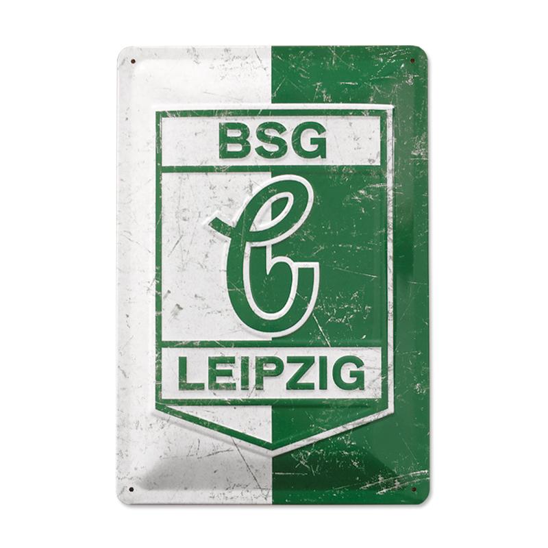 Blechschild *Grün & Weiß*